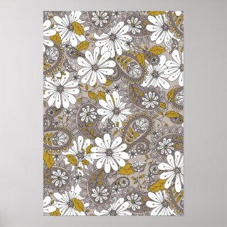 Paisley Floral Pattern Print