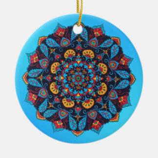 Paisley Flower Christmas Ornament