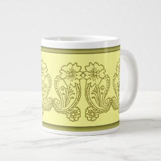 Paisley Flower Gold Extra Large Mugs