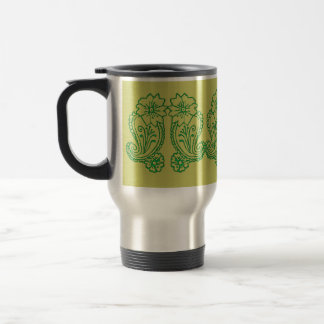 Paisley Flower Green Mug