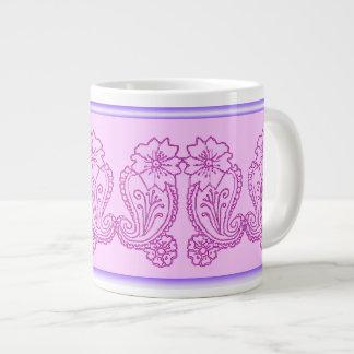 Paisley Flower Pink Extra Large Mug