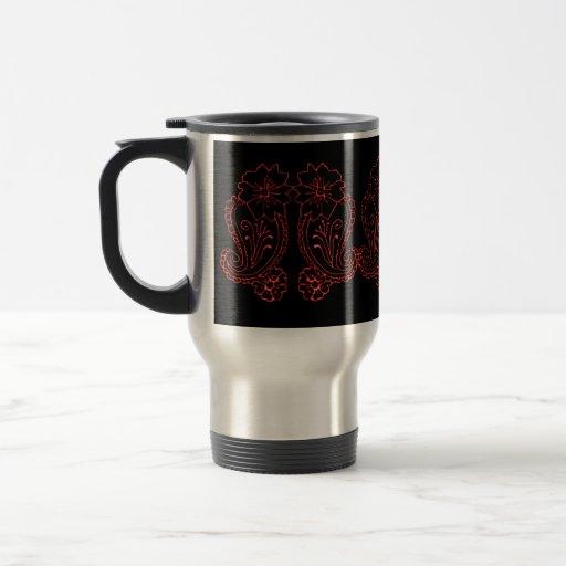 Paisley Flower (Red) Coffee Mug
