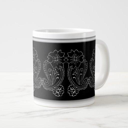 Paisley Flower Extra Large Mug