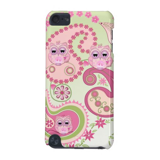 Paisley flowers & Owls design iPod Touch (5th Generation) Cover