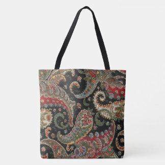 Paisley Fractal Tote Bag