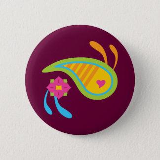 Paisley Fun 6 Cm Round Badge