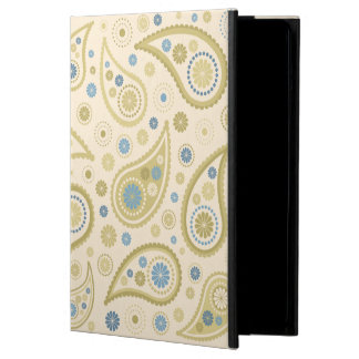 Paisley Funky Print Cream Blues Golds Case For iPad Air