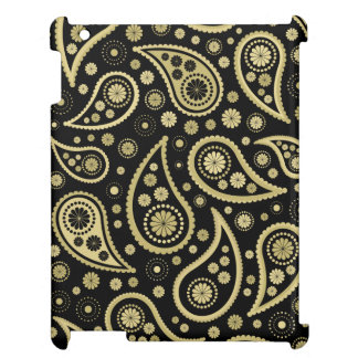 Paisley Funky Print in Black & Golds Cover For The iPad 2 3 4