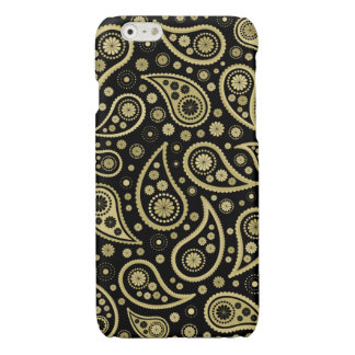 Paisley Funky Print in Black & Golds iPhone 6 Plus Case