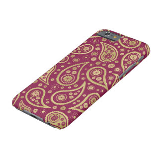 Paisley Funky Print in Burgundy & Golds Barely There iPhone 6 Case