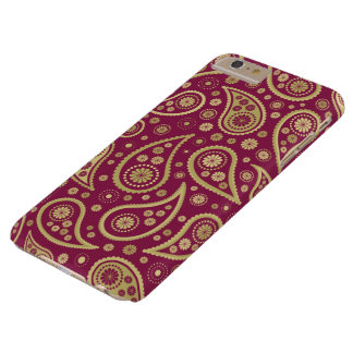 Paisley Funky Print in Burgundy & Golds Barely There iPhone 6 Plus Case