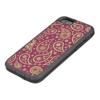 Paisley Funky Print in Burgundy & Golds Tough Xtreme iPhone 6 Case
