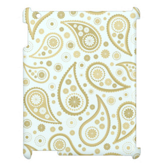 Paisley Funky Print in Light Blue & Golds Case For The iPad 2 3 4