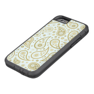 Paisley Funky Print in Light Blue & Golds Tough Xtreme iPhone 6 Case