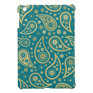 Paisley Funky Print in Teal & Golds iPad Mini Cover
