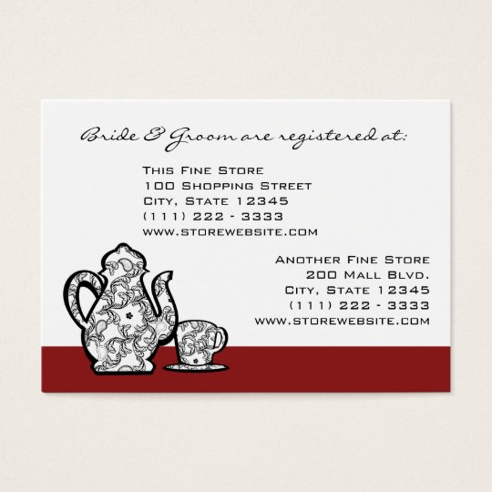 Paisley Garden Tea Party Business Card