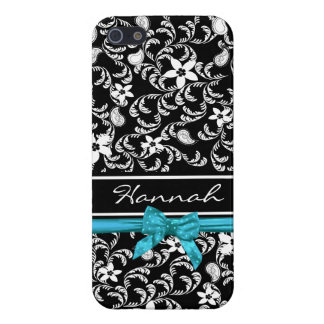 Paisley Garden with Bow iPhone 5 Cases