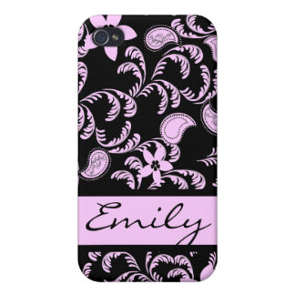 Paisley Garden with Changable Color Cover For iPhone 4