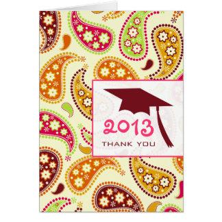 Paisley Graduation Thank You Card