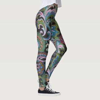 Paisley Green Leggings