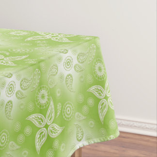 Paisley green summer pattern. tablecloth