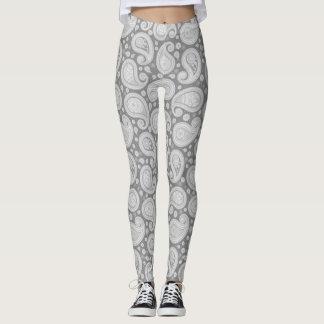 Paisley grey elegant yoga pants