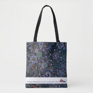 Paisley Hand Painted Museum LA Tote