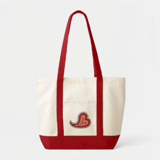 Paisley Heart Light Tote Bag
