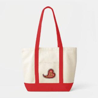 Paisley Heart Light Tote Bag