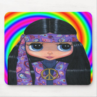 Paisley Hippie Doll Swirl Mousepad