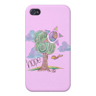 Paisley Hope Tree iPhone 4 Case (Pink)