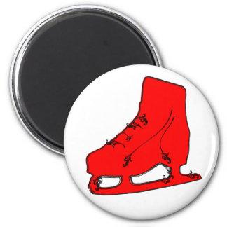 paisley ice skate 6 cm round magnet
