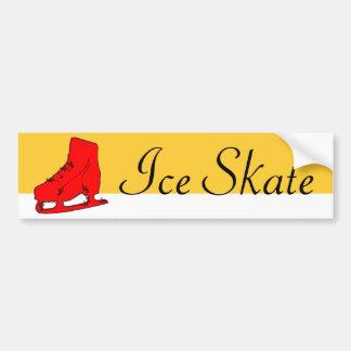 paisley ice skate bumper sticker