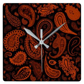 Paisley in Rust by Julie Everhart Wallclocks