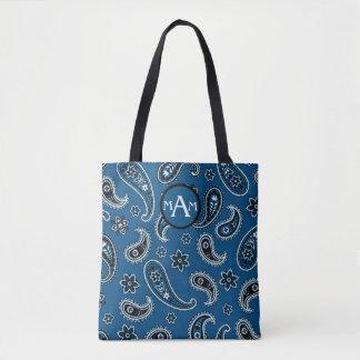 Paisley Initials Tote Bag