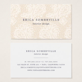 Paisley Lace Business Cards | Buttercream