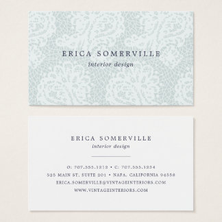 Paisley Lace Business Cards | Ice
