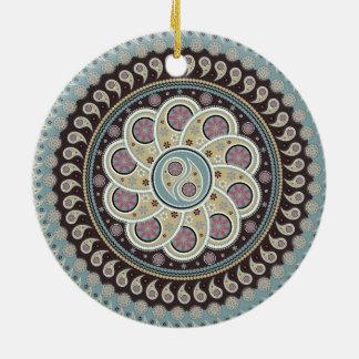 Paisley Mandala Round Ceramic Decoration