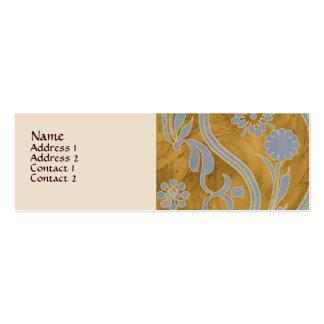 Paisley Mocha Profile Card Business Card Templates