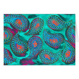 Paisley mola, mola paisley greeting card