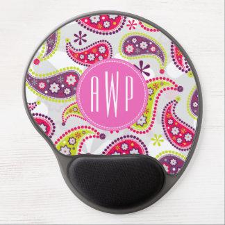 Paisley Monogram Mousepad Gel Mouse Pad