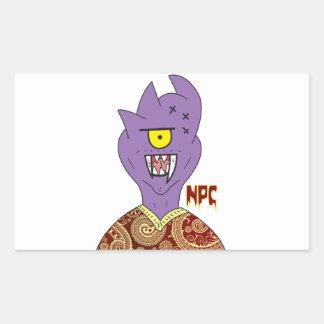 Paisley Monster Sticker