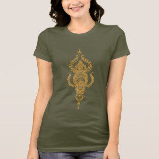 Paisley(orange) brown t-shirt