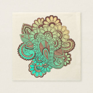 Paisley Ornaments I + your backgr. & ideas Disposable Napkin