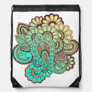 Paisley Ornaments I + your backgr. & ideas Drawstring Bag