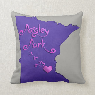 Paisley Park is in my heart Cushion