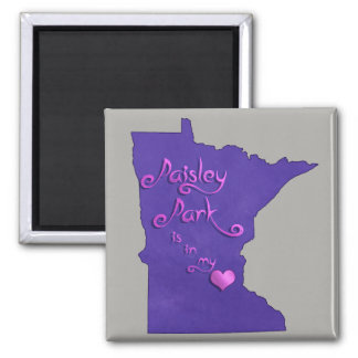 Paisley Park is in my heart Magnet