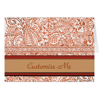 Paisley Passion - Orange (Henna) Card