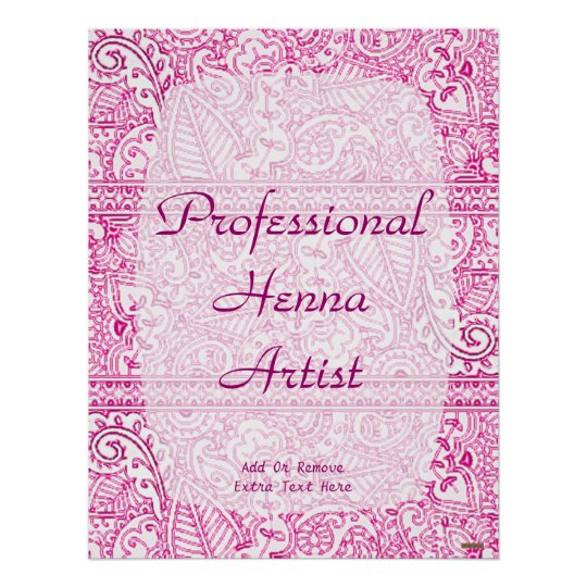 Paisley Passion - Pink (Henna) Poster
