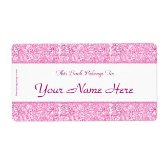 Paisley Passion - Pink (Henna) Shipping Label